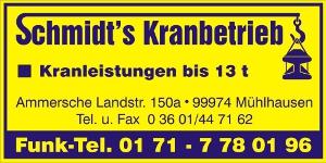 Schmidt's Kranbetrieb